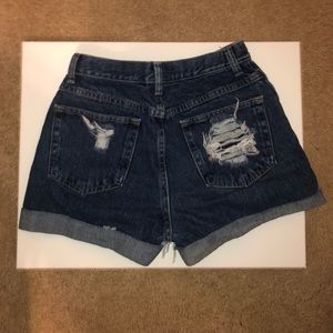 Wrangler Shorts - Wrangler Distressed Denim High-Waisted Shorts